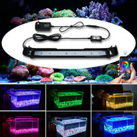 LED Aquarium Marine Fish Tank Light with Extendable Bracket RGB Overhead Lamp