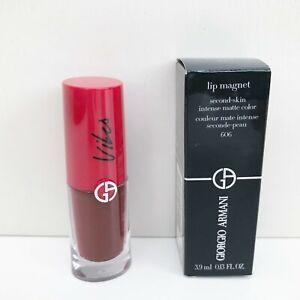 Giorgio Armani Lip Magnet Matte Liquid Lipstick, #606 Burgundy, VIBES COLLECTION
