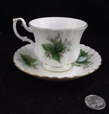TRILLIUM  ROYAL ALBERT BONE CHINA ENGLAND TEA CUP AND SAUCER (S)