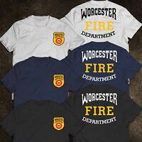 New Fire Department Boston City Massachusetts Engine 37 FireFighter Resc T-Shirt