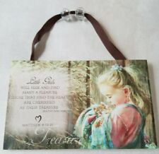 Mama Says Kathy Fincher Wood Sign Plaque Little Girls Bible Verse Signs New