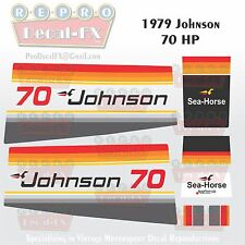 1979 Johnson 70 HP Sea-Horse Outboard Reproduction 15 Pc Marine Vinyl Decals
