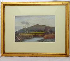 Antique Framed Watercolour Landscape Tor Near Tal Y Bont Wales T.C.Grant 1883