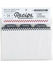 """KSC Recipe Card Dividers: 3"""" x 5"""" Pack of 24 (2408)"""