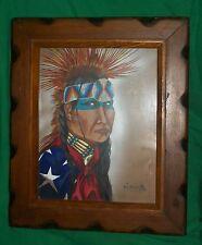 ORIGINAL ART PAINTING JACK MCCARTER NATIVE AMERICAN INDIAN CHEROKEE FANCY DANCER