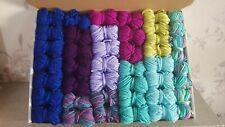 Mermaid Dk Wool job lot knitting crochet crafts pom poms granny squares craft