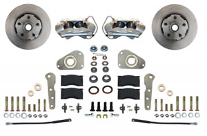 57-68 Ford/Merc Full Size Leed Brakes Front Wheel Disc Brake Kit (plain rotors)