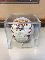 Autographed Baseball Pittsburgh Pirates Signed All Stars Rare with display box