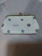 "Vintage Women's ""Classic"" Coin Purse Mini Wallet White Leather Small Kiss-lock"