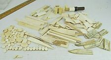 LOT INLAY Materials Bone Antler Faux Ivory Cue Inlay Knife Handle