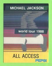 Michael Jackson-World Tour 1988-CONCERTO-SCATOLA-pass SILVER-oggetto da collezione