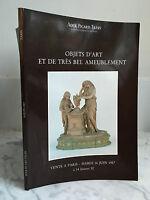 Catalogue Di Vendita Ader Picar Tajan Articolo Arte E Molto Bel ameublement1987