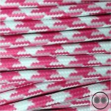 Textilkabel, Stoffkabel, Stern Pink Weis 2 adrig 2 x 0,75 mm² rund (Meterware)