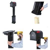 Postal Pro Madison Mailbox And Post Kit Rust Proof Finish Black Easy Assembly