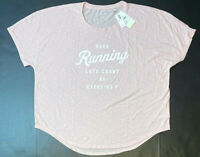 Old Navy Slub-Knit Dolman-Sleeve Performance Tee, Pink, XL MSRP $19.99