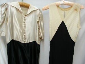 ALL FOR ONE $ ~ LOT 2 VINTAGE 1920s EVENING DRESSES 4 pattern