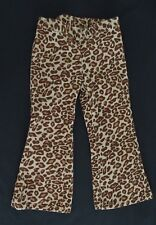 Gymboree 3 3T Girls Pants Teacher's Pet EUC velour leopard adjustable vintage
