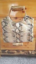 Alexis Hudson genuine  leather snake print handbag