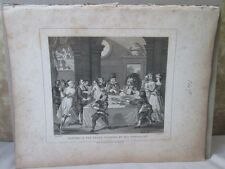 Vintage Print,SANCHO AT THE FEAST,Hogarth,1807