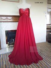 Strapless Full Length Chiffon Party Evening Wedding Bridesmaid Dress JS09