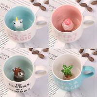 3D Animal Inside Cup Ceramic Coffee Mug 400ML Cartoon Tea Milk Juice Cup Decor