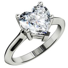 GIA certified Solitaire Engagement Ring 1.50 Carat Heart shape Diamond 18K