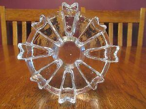 Clear Textured Art Glass Flower Tea Light Candle Teapot Pot Pan Plate Warmer