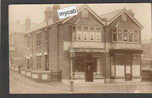 Postcard Throop Dairy nr Bournemouth Dorset shop front early RP