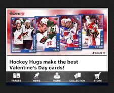 30 CARD SET-VALENTINES DAY HOCKEY HUGS-TOPPS SKATE 19 DIGITAL