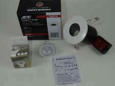 6 x Fire Rated White IP65 Bathroom  FOR GU10  LED Bulb Downlights JCC £20.95
