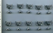 LEGO x 10 Metallic Silver Minifig, Utensil Trophy Cup NEW