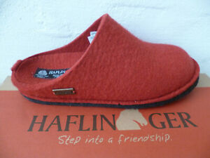 Haflinger Ladies Slippers House Shoes Mules Red New