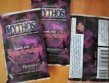 Lovecraft MYTHOS CCG ~Legends of Necronomicon 3 Booster Packs Sealed Limited Ed