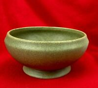 McCoy Floraline Small Pedestal Planter Footed Vase Art Pottery Green USA