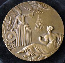 CGT French Line SS ANTILLES Bronze Medal Delamarre 1952