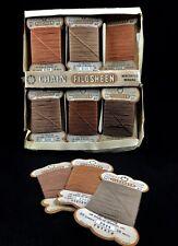 Vintage Paquete de cadena filosheen Hilo de Coser/raro conjunto/Retro Tela Cotten