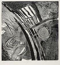WINFRIED WOLK - Spanien / getötete und lebendige Hoffnung - Radierung 1976