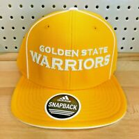 Golden State Warriors NBA Basketball Adidas Snap Back Hat Flat Bill Cap NWT
