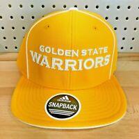 Golden State Warriors NBA Basketball Adidas Snap Back Hat Flat Bill Cap NWT