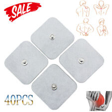 """40x Snap On Replacement Electrode Pads For TENS Unit Self Adhesive Stud 2""""x2"""" US"""