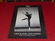 COLL. J.LE BOURHIS DANSE BALLET AFFICHE OPERA GARNIER JEAN GUIZERIX Signée! 1990