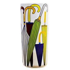 "Classic Umbrella Stand Ceramic 18"" Round Tall Retro Coloured Stick Holder"
