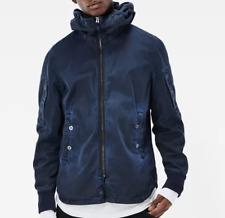 G Star Batt Hooded Blue Full Zip Long Sleeve Jacket Mens Large *Ref43