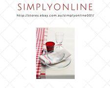 20x ikea tekla 100 cotton kitchen tea towels 50 x 65cm in red u0026 white