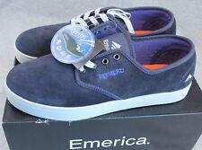 Emerica Romero Skate Shoes Size 9.5 Mens Sneakers Dark Blue w/ Gray Trim