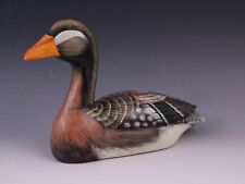 Vintage Signed A06 Hand Painted Carved Wood Duck Decoy