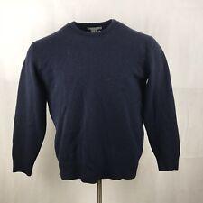 LYLE & SCOTT Jumper XL Men's Navy Blue Lambs Wool Sweater Long Sleeved Scotland