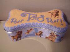 run Toto run Dog Advertising dog bone shape Tin