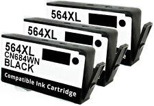 3PK FOR HP 564XL HP564XL BLACK CN684WN PhotoSmart station Plus e-AIO C310 a b c