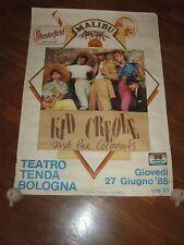 POSTER,MANIFESTO,1985,KID CREOLE AND THE COCONUTS,BOLOGNA TEATRO TENDA,CONCERTO